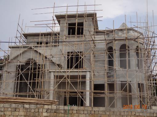 柳州柳东洛埠私人别墅grc线条工程