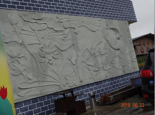 柳江区百朋和村庄grc浮雕项目