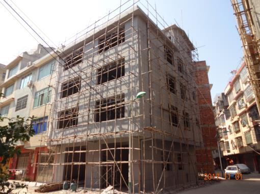 柳州古亭山私人别墅外墙grc构件施工案例实拍
