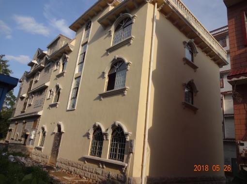 柳州南苑私人别墅外墙水泥grc构件实拍