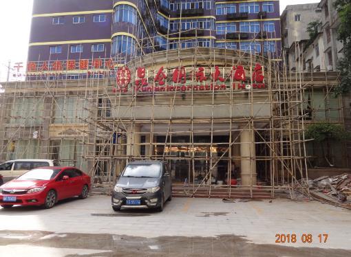玉林容县昆仑国际酒店外墙grc水泥构件