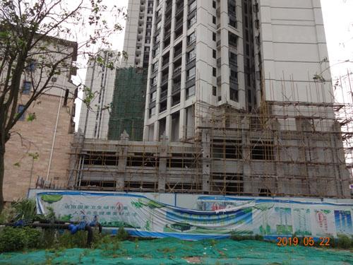 广西柳州-柳东叠翠湾grc外墙线条案例实拍