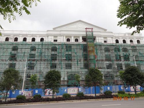 柳州柳东区正和城农贸市场grc外墙构件案例