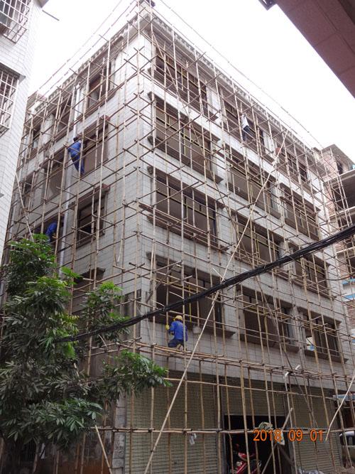 柳州柳江基隆私人别墅外墙线条grc施工项目