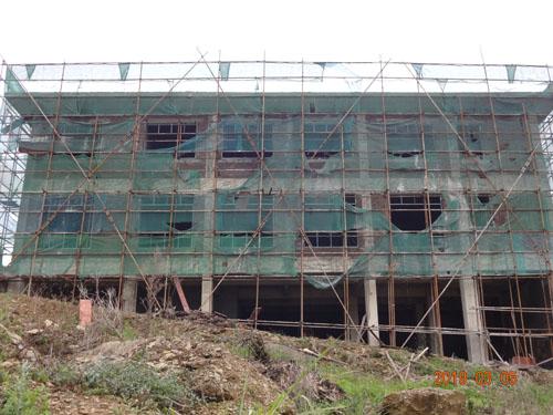 广西象州气象局外墙grc构件装修与涂料施工