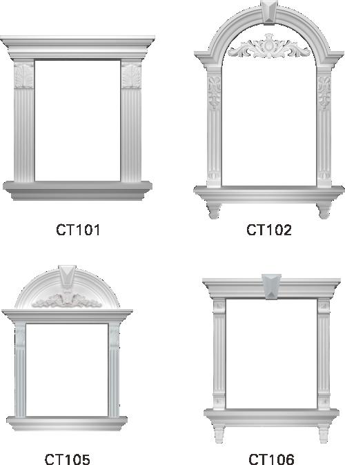 欧式GRC窗套线条构件4