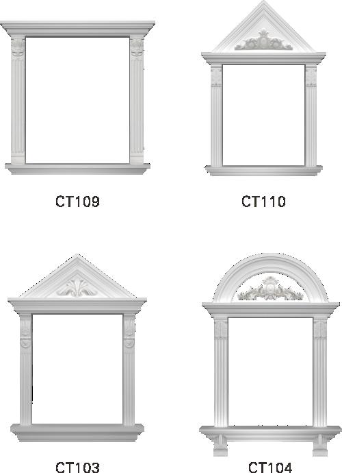 欧式GRC窗套线条构件5