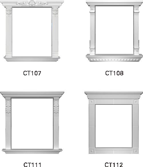 欧式GRC窗套线条构件6