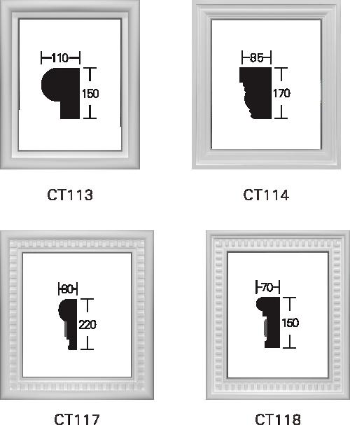 欧式GRC窗套线条构件7