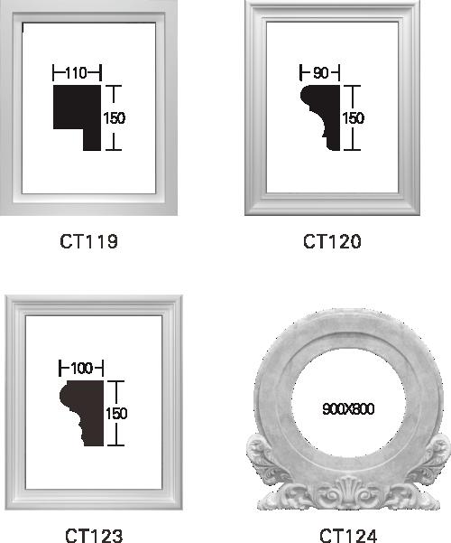 欧式GRC窗套线条构件8