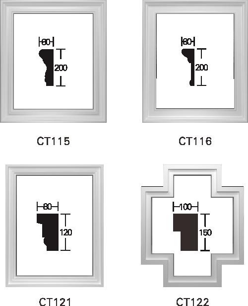 欧式GRC窗套线条构件9