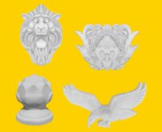 GRC欧式风格雕塑配件